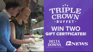 Win a pair of gift certificates to the Triple Crown Buffet at Delta Downs