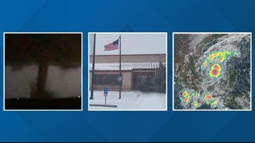 Wild Texas Weather: Thundersnow, tornadoes & potential tropical depression
