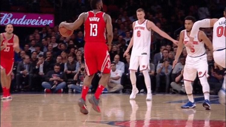 James Harden had 31 points and nine assists, and the Houston Rockets had their 3-pointers falling again in a 119-97 victory over the New York Knicks on Wednesday night.