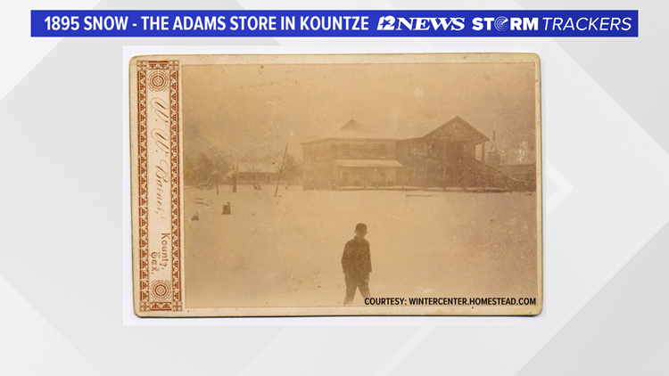 Kountze, TX during the 1895 storm