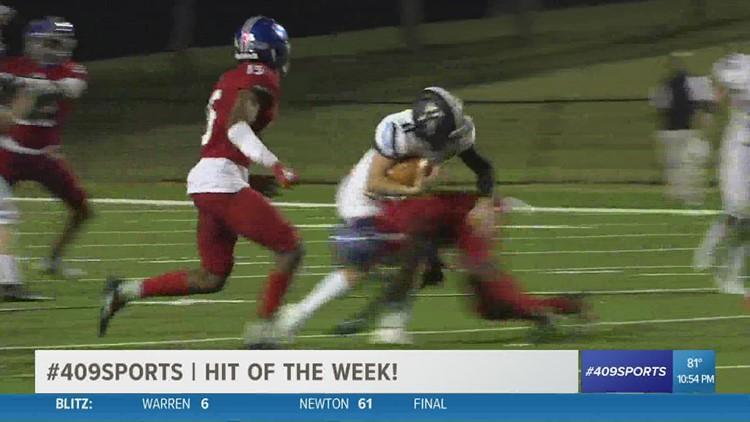 West Brook High School's Khristian Pugh makes the week 8 hit of the week