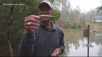 As temperatures fluctuate, lure to use is a jerk bait