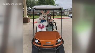 Easter Bunny visits Calder Woods residents