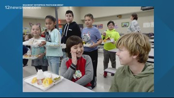 10-year-old helps wipe out lunch debt at Port Neches Elementary