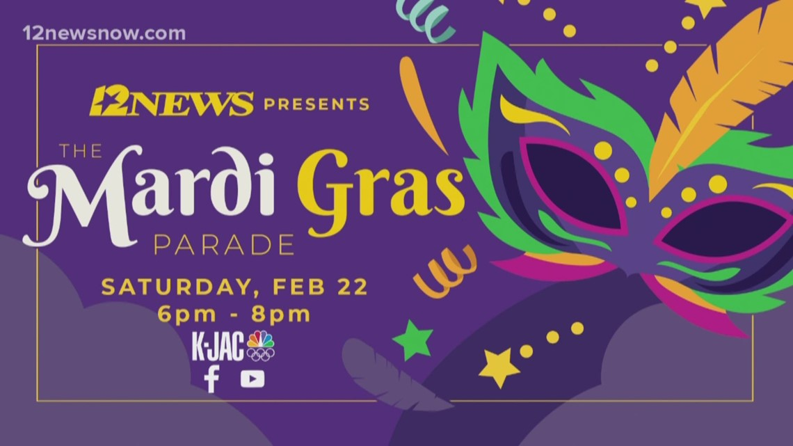 12News streams Total Krewe of Aurora Grand Parade from Mardi Gras of Southeast Texas