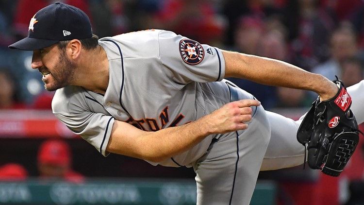 Verlander throws 5-hit shutout, Astros blank Angels 2-0