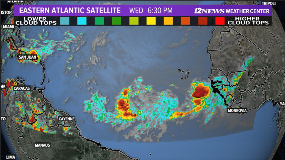 Tropical wave may become 'Chantal,' by Sunday, expected to curve away from U.S. coast