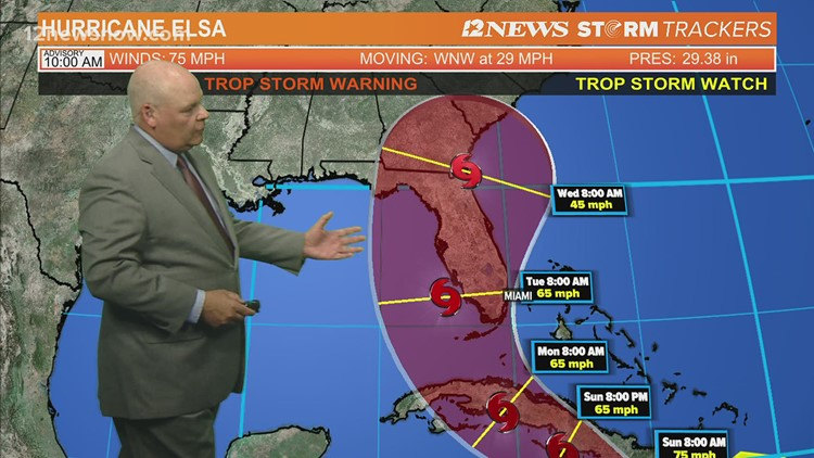 Hurricane Elsa headed toward Florida, not threatening SE Texas