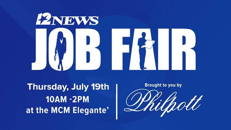 The job fair will be on Thursday, July 19, 2018, at The Elegante Hotel in Beaumont from 10 a.m. - 2 p.m.
