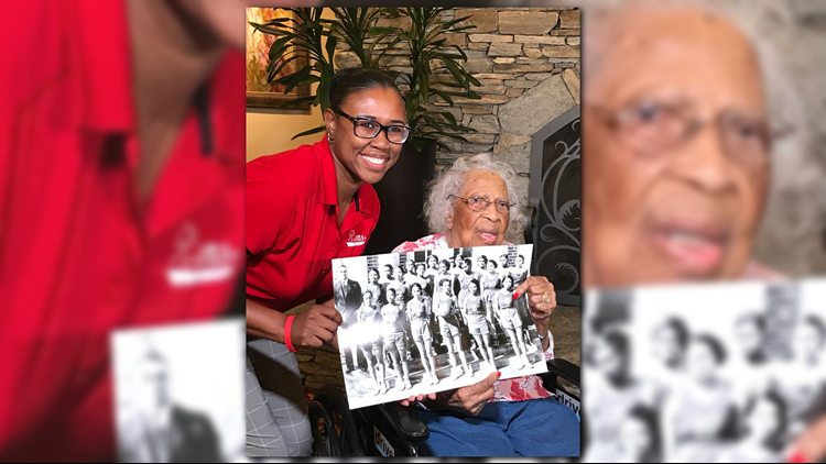 103-year-old Henrietta Cross Hatton Clark, was a student at WSSU back when it was the Winston-Salem Teachers College in the 1930s and played on the women's basketball team.