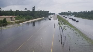 MAP: Roads, highways, interstates closed around Beaumont following Imelda