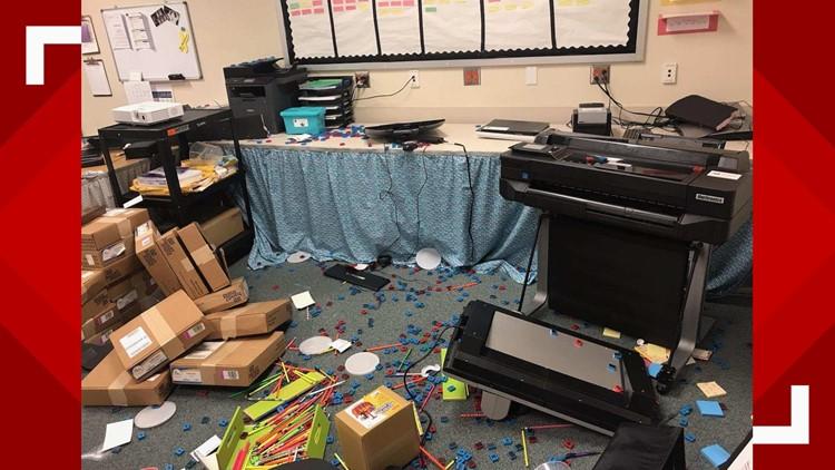 Pietzsch-MacArthur Elementary School , Vandalism