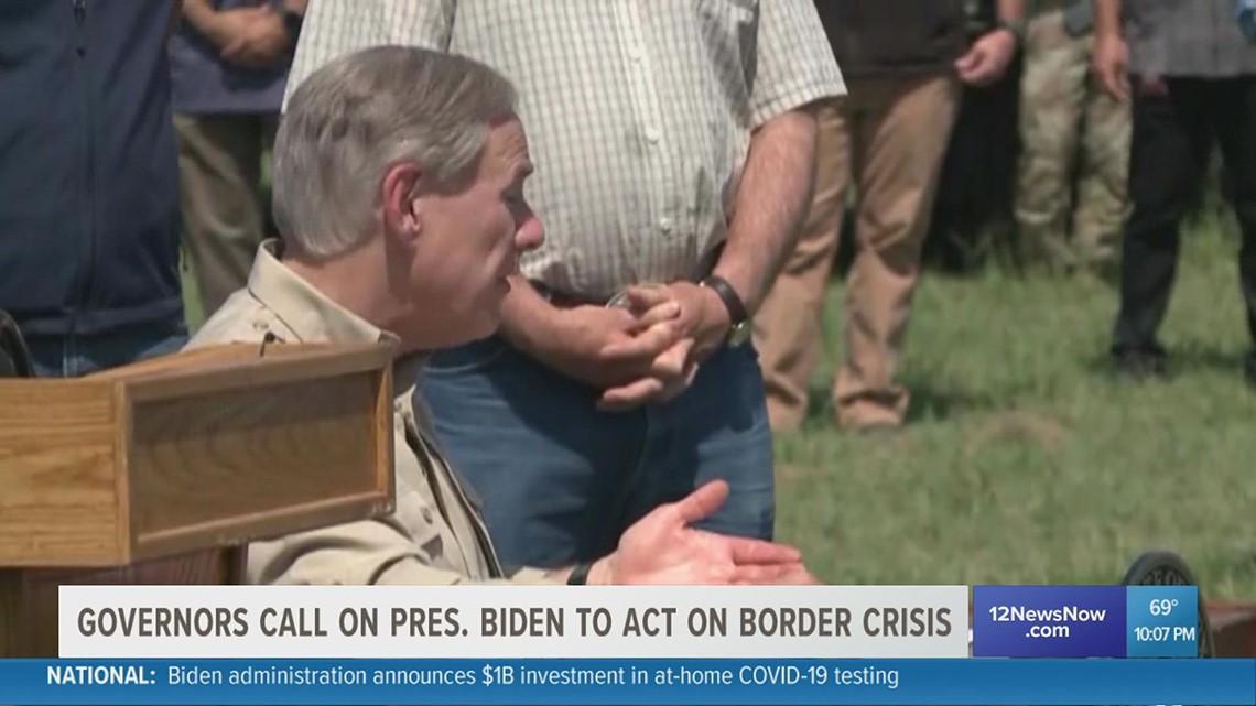 Gov. Greg Abbott, other Republican governors urging Biden administration to solve border crisis