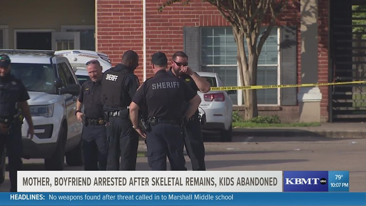 Mom, boyfriend arrested after skeletal remains, abandoned kids found in Houston-area apartment