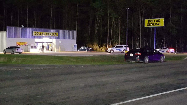 Deputies said the man, dressed in camo, shot through the front door of the Dollar General with a pistol.