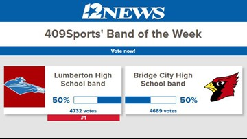The Lumberton High School band is the 409Sports' Band of the Week for week 9
