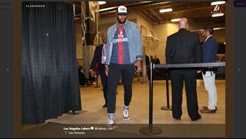 LeBron wears Beto O'Rourke cap before Spurs game in San Antonio