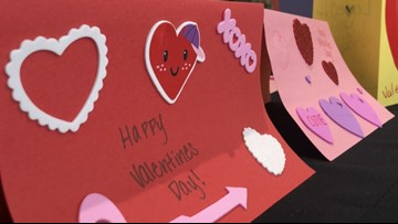 Dozens create Valentine's Day cards for Beaumont nursing home residents