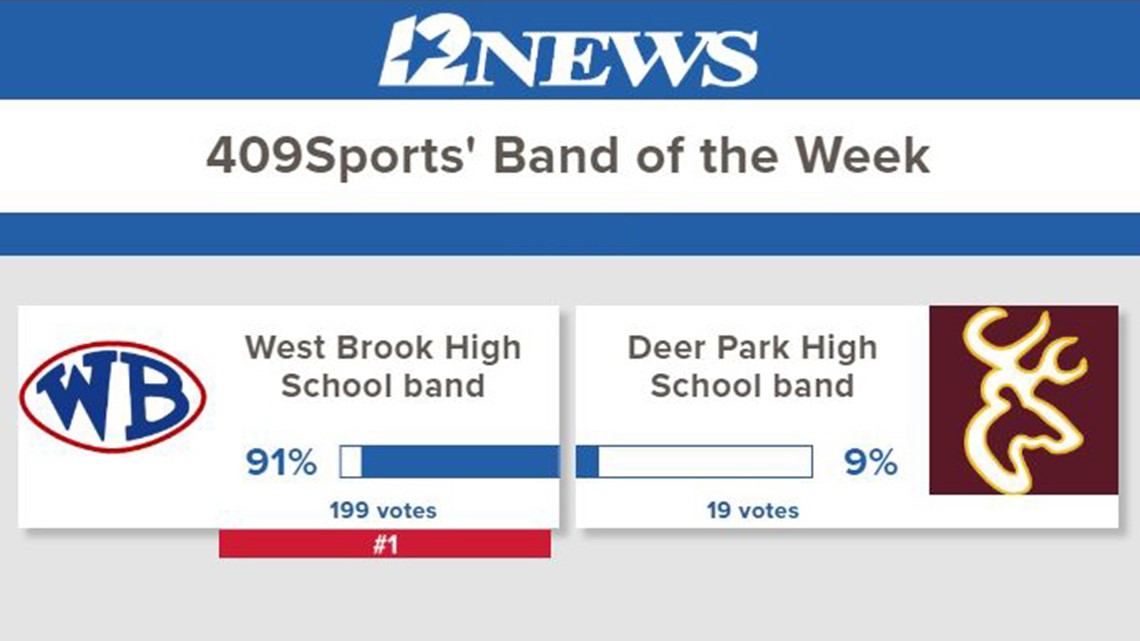 The West Brook High School band is the 409Sports' Band of the Week for week 10