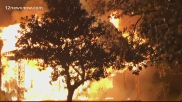 Three fires within a one mile radius in Beaumont; one victim flown to Houston hospital