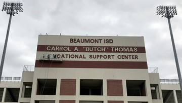 Name featuring former superintendent being removed from Beaumont ISD Memorial Stadium