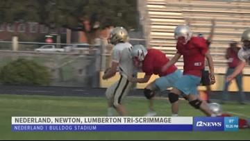 Nederland, Newton and Lumberton complete scrimmage