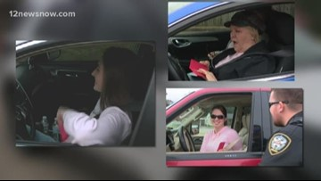 CAUGHT IN THE ACT: Nederland Police pull over drivers to give them cash