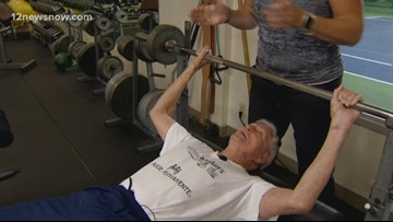 He wanted to bench press 90 pounds on his 90th birthday; He did that, and then some