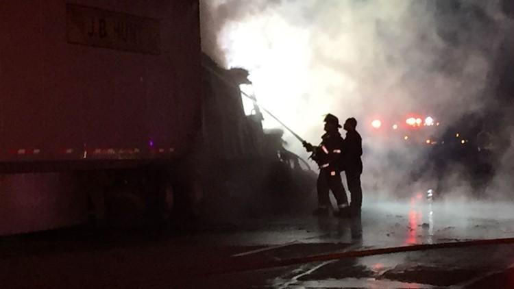 Orange County 18-wheeler fire