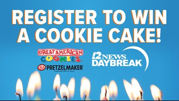 Celebrate a birthday on 12News Daybreak, enter to win a birthday 'cookie cake'