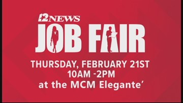 Don't miss the 2019 12News Job Fair this February