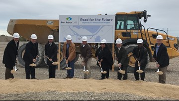 Leaders break ground on Highway 87 relocation project ahead of Port Arthur LNG construction