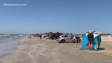 Bolivar Peninsula beaches packed after Easter weekend closures