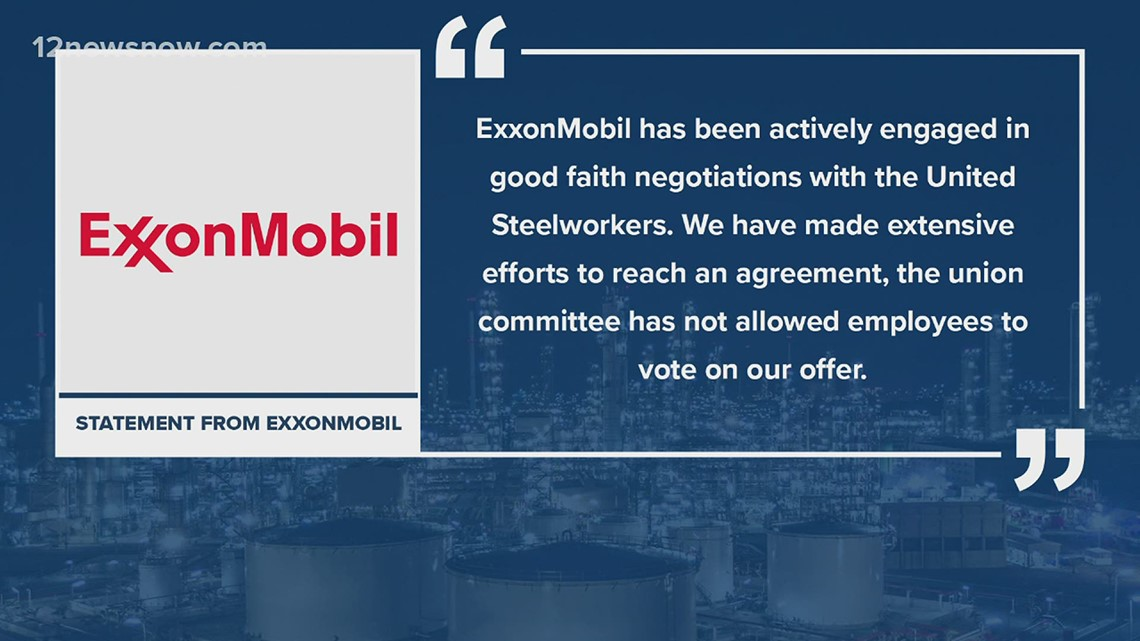 United Steelworkers rally following ExxonMobil lockout notice