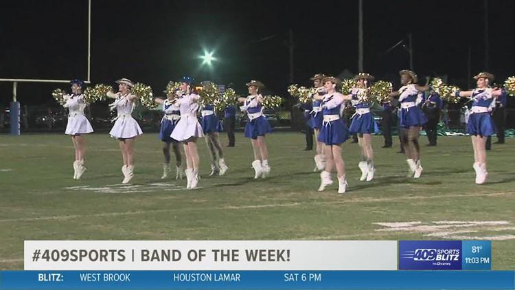Hamshire-Fannett High School wins the week 3 409Sports Band of the Week contest
