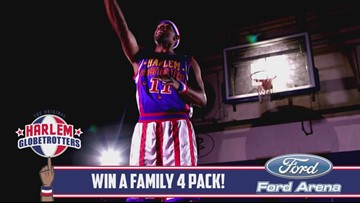 Win a 'family 4-pack' to see the Globetrotters