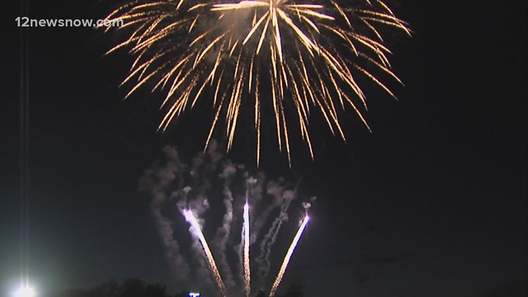 4th of July fireworks happening rain or shine across Southeast Texas