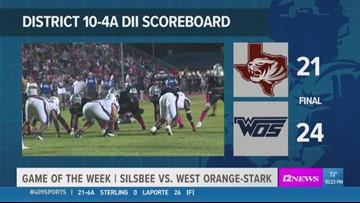 WEEK 7: West Orange-Stark HS beats Silsbee 24 - 21 in the Game of the Week, now has highest winning percentage in Texas history