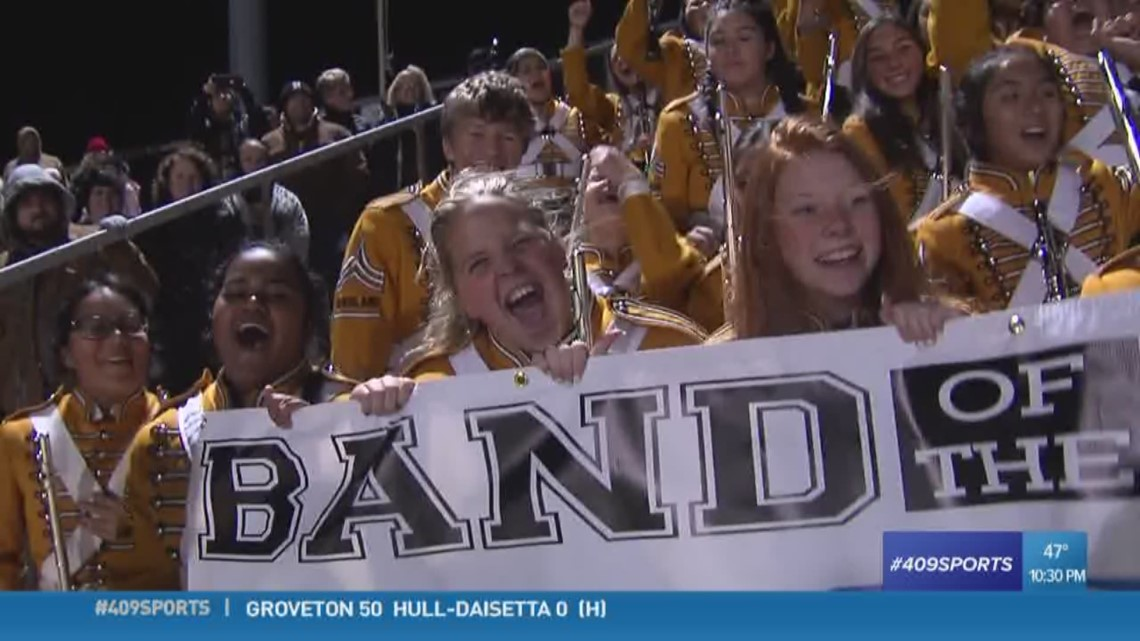 The Nederland High School band is the week 11 'Mid-County Madness edition' 409Sports Band of the Week