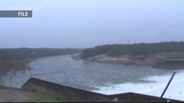 Five spillway gates open at Toledo Bend