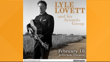 Lyle Lovett coming to Beaumont's Jefferson Theatre