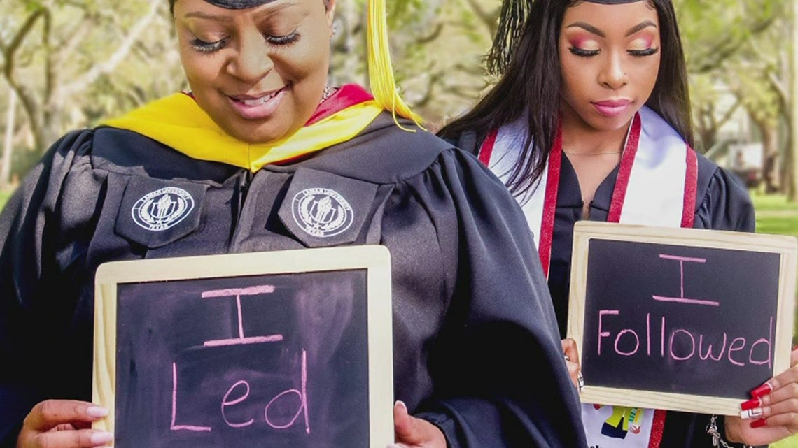 Mother inspires daughter to graduate from Lamar University after completing degree