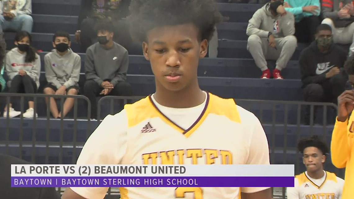 Beaumont United cruises into the Area round after knocking off La Porte, 92-54
