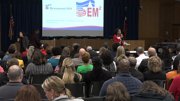 Beaumont ISD sees packed house for discipline forum after viral video incident at Homer Drive