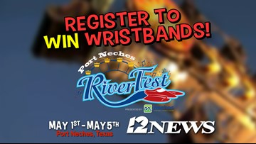 Win a pair of wristbands for the Port Neches Riverfest