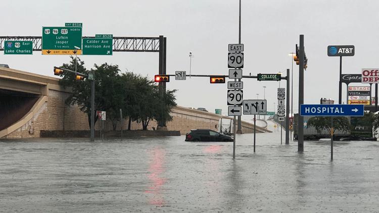 Live: Imelda causes widespread flooding