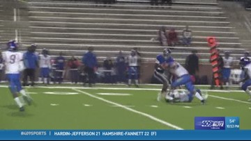Week 7 hit-of-the-week goes to Channelview High School's Arthur Boutte