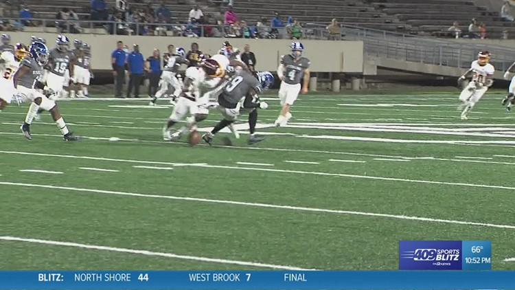 Beaumont United's Davon Walker lays out the return man in the week 5 Hit of the Week