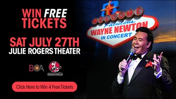 Win four tickets to see Wayne Newton Saturday night in downtown Beaumont