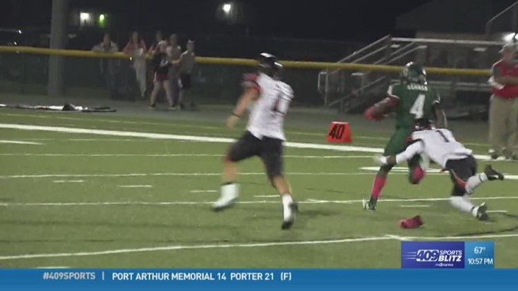 East Chambers High School's Ernest Cesar breaks an 80-yard TD run in the Play of the Week